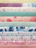 Celebration the boxing day with variety colorful collection gift wrapping paper. CofCelebration the boxing day with variety colorful collection gift wrapping Royalty Free Stock Image