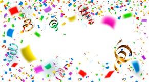 Celebration. Bright colorful confetti background. Illustration. Rasterized Copy Stock Image