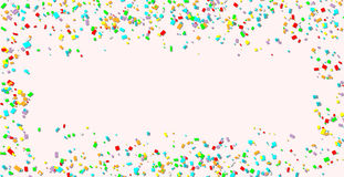 Celebration. Bright colorful vector confetti background Royalty Free Stock Photography