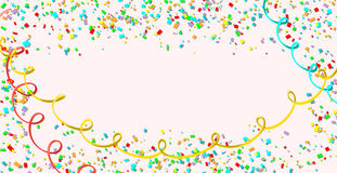 Celebration. Bright colorful vector confetti background Royalty Free Stock Image