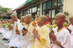 Celebration of Buddhist Novice Stock Photos