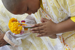 Celebration of Buddhist Novice Royalty Free Stock Image