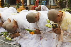 Celebration of Buddhist Novice Stock Photography