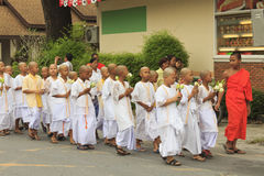Celebration of Buddhist Novice Stock Photos
