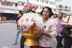 Celebration of Buddhist Novice Stock Image