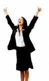 Celebration businesswoman Royalty Free Stock Photo