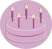Celebration Cake. Celebration birthday party cake illustration Vector Illustration