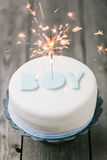 Celebration cake for a baby Royalty Free Stock Photography