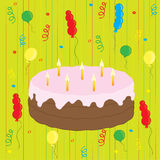 Celebration with cake and balloons Royalty Free Stock Photo