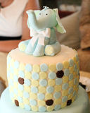 Celebration cake with elephant figure Royalty Free Stock Photography