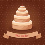 Vector celebration cake Royalty Free Stock Photo