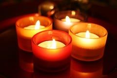 Celebration candles stock photo