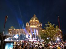 Celebration in capital of Serbia royalty free stock photo