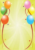 Celebration card. Classic designed birthday card with a background Royalty Free Stock Photos