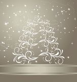 Celebration card. With abstract christmas floral tree - vector Stock Photography
