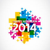2014 celebration card Stock Image