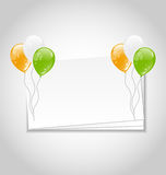 Celebration Card with Balloons Royalty Free Stock Photos