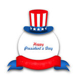 Celebration Card for Happy Presidents Day of USA Stock Photography