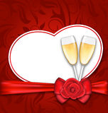 Celebration Card Heart Shaped for Happy Valentines Day Royalty Free Stock Photo