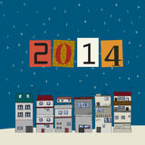 2014 celebration card. New years eve celebration card for 2014 Royalty Free Stock Images
