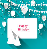 Celebration Card with Party Hats Royalty Free Stock Image