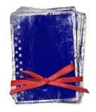 Celebration card with patriotic symbols of America Stock Images