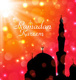 Celebration card for Ramadan Kareem Stock Photo