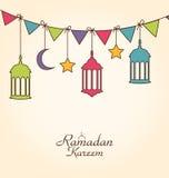 Celebration Card for Ramadan Kareem Stock Photography