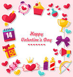 Celebration Card for Valentine`s Day Royalty Free Stock Photo