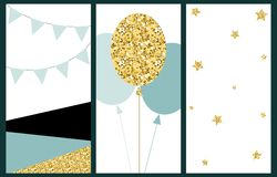Celebration cards background. Birthday, wedding, party hand draw vector illustration