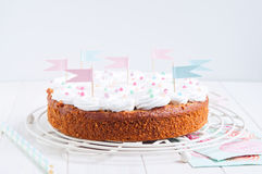 Celebration carrot cake Stock Photography