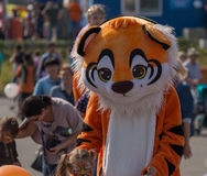 Celebration at central square of Vladivostok in honor of the Tiger Day. Royalty Free Stock Photography