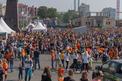Celebration at central square of Vladivostok in honor of the Tiger Day. Royalty Free Stock Images