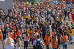 Celebration at central square of Vladivostok in honor of the Tiger Day. Stock Image