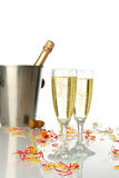 Celebration with champagne Stock Photo