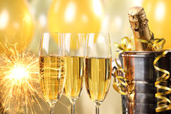 Celebration with Champagne Royalty Free Stock Photo