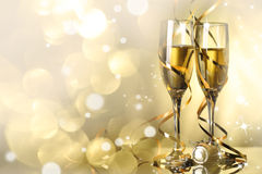 Celebration with champagne Stock Images