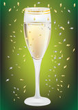 Celebration champagne glass Royalty Free Stock Image