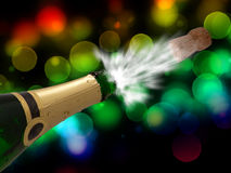 Celebration with champagne on party Royalty Free Stock Photo