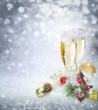 Celebration with champagne. And sparkle Stock Photography