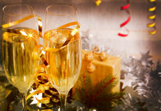 Celebration with Champagne. Stock Image