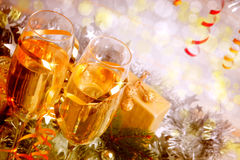 Celebration with Champagne. Royalty Free Stock Images