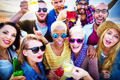 Celebration Cheerful Enjoying Party Leisure Happiness Concept Royalty Free Stock Photo