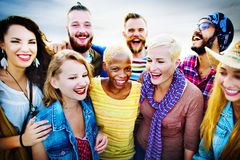 Celebration Cheerful Enjoying Party Leisure Happiness Concept Stock Photo