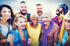 Celebration Cheerful Enjoying Party Leisure Happiness Concept Stock Photography
