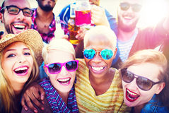Celebration Cheerful Enjoying Party Leisure Happiness Concept.  Stock Image