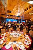 The celebration of Chinese New Year is coming for dinner. In January 20, 2013, Foshan City held a celebration of Chinese New Year coming banquet, banquet in Royalty Free Stock Photos