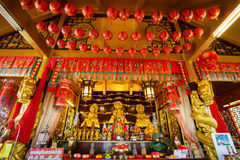 Celebration of the Chinese new year in the temple Saphan Hin Royalty Free Stock Images