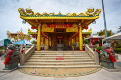 Celebration of the Chinese new year in the temple Saphan Hin Royalty Free Stock Image