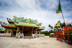Celebration of the Chinese new year in the temple Saphan Hin Stock Photos